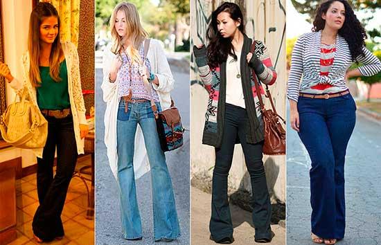 calças femininas da moda jeans