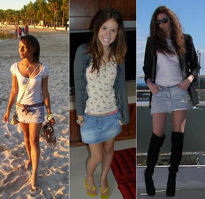 modelos de mini saia jeans