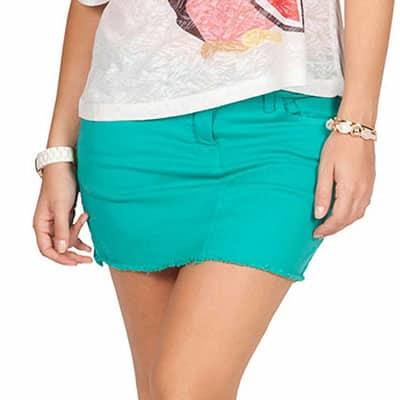 Dicas de Saia jeans colorida