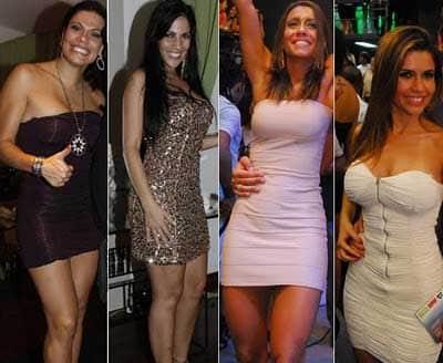 Modelos de Vestido justo e curto