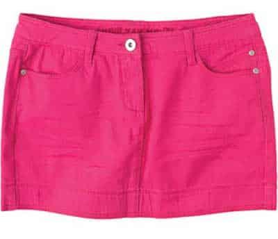 Saia jeans colorida