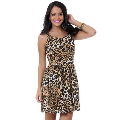 modelos de Vestido com estampa oncinha