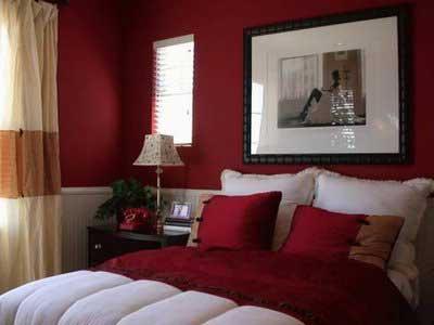 quartos vermelhos decorados