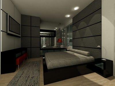 quarto masculino preto