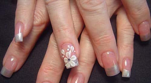 dicas de unhas decoradas com flores