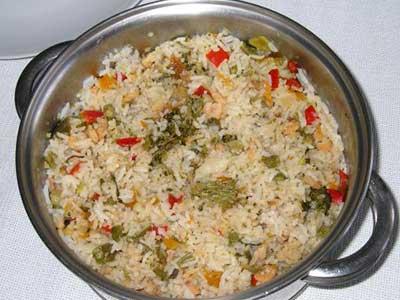 como cozinhar arroz