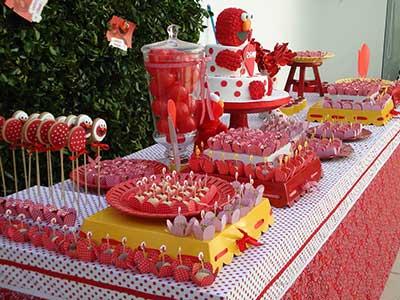 festa infantil com doces