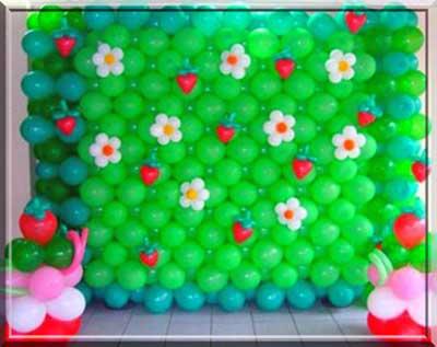 mural de bolas