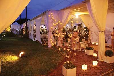 iluminação para casamento