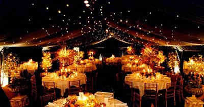 iluminação de casório
