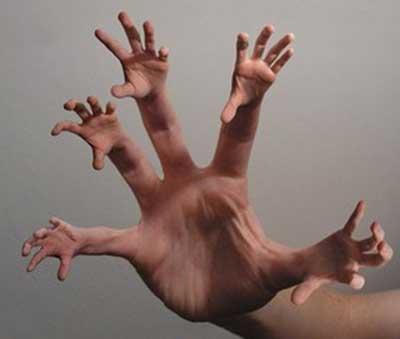 pontas dos dedos