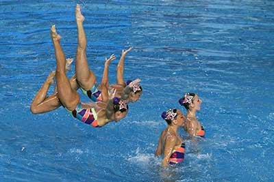 fotos de nado sincronizado